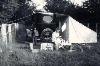Old Car and a Tent